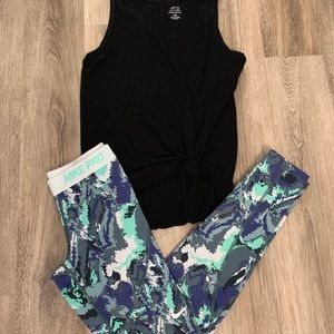 Blue nike sport leggings